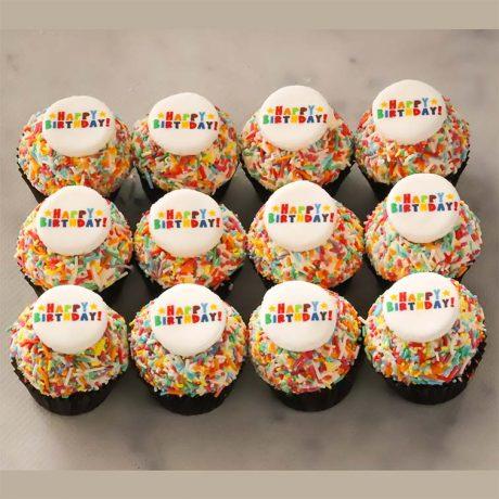 Happy Birthday Mini Cupcakes
