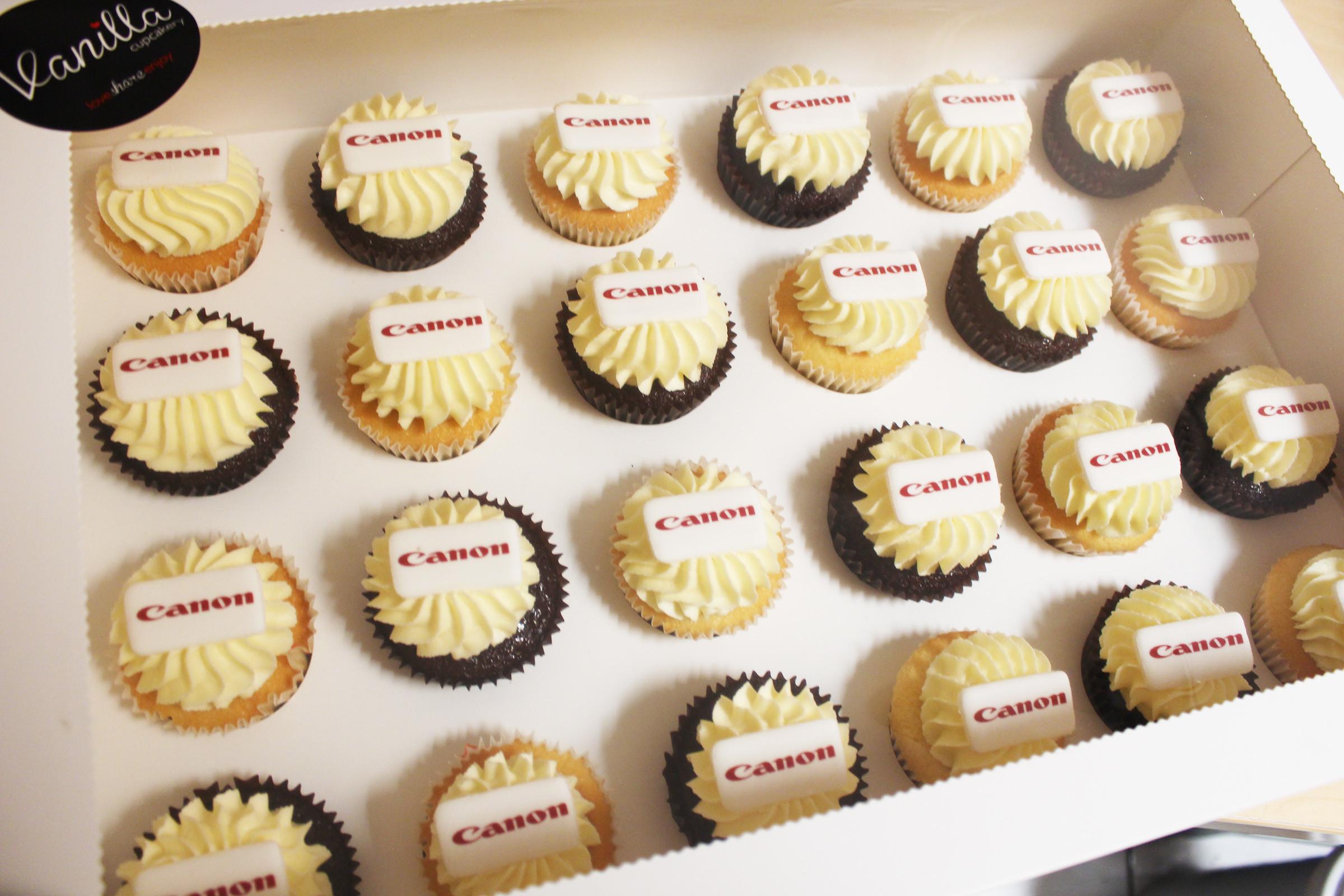 Canon corporate cupcakes