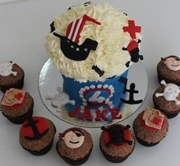 Giant Pirate Cupcake