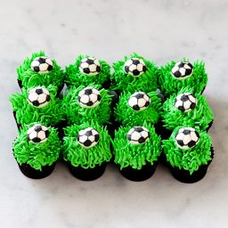 soccer ball petite cupcakes