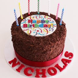 Chocolate Flake Birthday cake