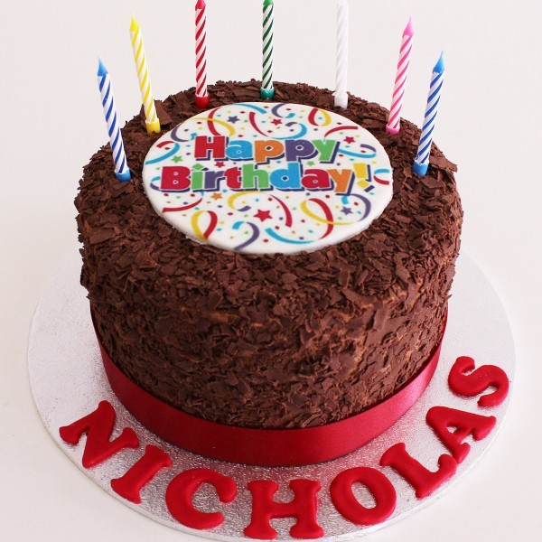 Chocolate Flake Birthday cake