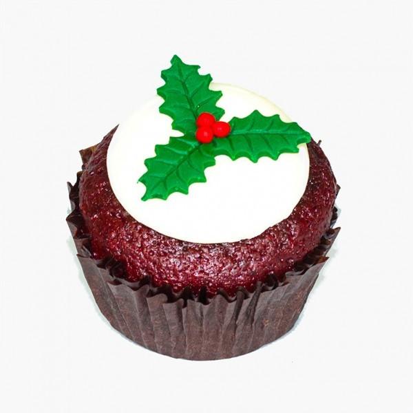 Red Velvet Christmas cupcake