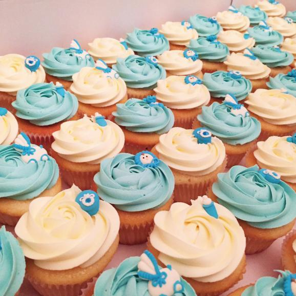 Baby boy themed cupcakes