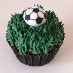 Soccer Ball cupcake