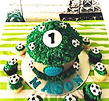 Soccer Giant Cupcake