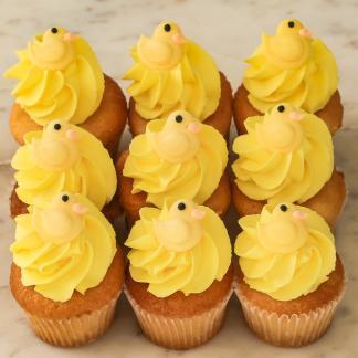 Baby Shower Yellow Duck cupcakes
