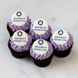 International Women's Day cupcakes mini size