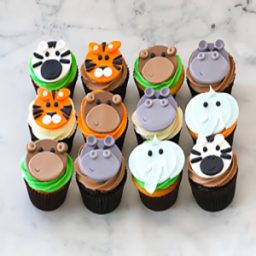 Jungle theme cupcakes
