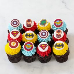 Superhero Mini Cupcakes