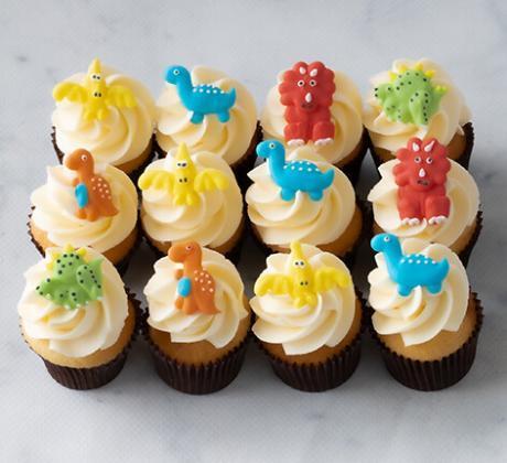 Dinosaur mini cupcakes