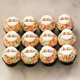 Happy Birthday mini Cupcakes