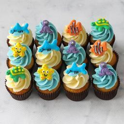 Sea creatures mini cupcakes