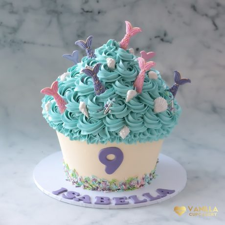 Mermaid Giant Cupcake